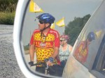 Natalie Smigel of Peru, IL caught a glimpse of some cyclists behind her in rural Indiana this past June. The group was participating in the HIS Home 300, a 300-mile ride from Illinois to Ohio, which raises funds to support an orphanage in Haiti.