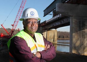 Commissioner Greg Whirley is the face of the Virginia DOT, which is replacing the aging Huguenot Memorial Bridge over the James River in Richmond. Approximately 25,000 vehicles use the bridge daily. The first palce of the $51 million new bridge opened June 30, 2012.