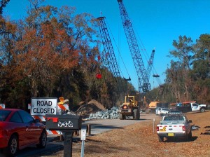 By replacing the old bridge with a new bridge, now, assures the traveling public that they will make it to the other side safely in future crossings. This bridge is located in Columbia county, Florida on CR-245, which is in District 2 of the Florida department of transportation.
