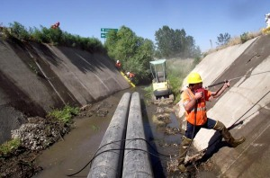 The Idaho Transportation Department saved a pocketful of money - $8,000 - by practicing the Do It Yourself principle. A bid to clean, power-wash and seal joints was not in the budget, so over the course of two days in early July, ITD crews did it themselves.