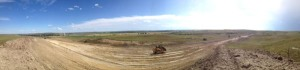 End portion panorama of Big Muddy Creek East Project; Culbertson is the town on the left.