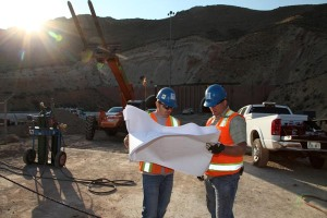 For engineers Weston Southwick and Nathaniel Voss, the morning sun launches another day of dedicated work on the Carlin Tunnels Project, part of more than 50 miles of I-80 improvements in northeastern NV.