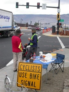 In Ashland, Ore., the Oregon Department of Transportation went the extra mile for cyclists by enhancing the safety of a busy intersection. A new bicycle signal at the Interstate 5 entrance allows cyclists to remain in a bike lane when crossing the intersection before cars turn onto the freeway.