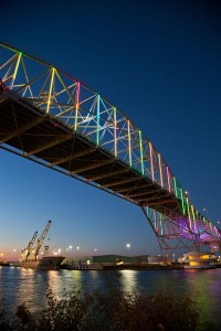 Harbor Bridge, Corpus Christi, Texas.