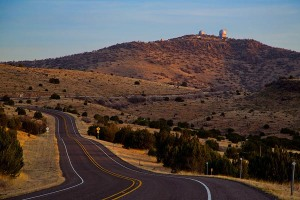 Road to the McDonald Observatory, Fort Davis, Texas.