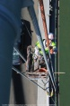 Photographer William Hall captures Thomas Korycinski painting the suspender cable on the western span of the San Francisco-Oakland Bay Bridge. Structural steel painters like Korycinski work tirelessly in the elements on the state's toll bridges, above live traffic and water, to help maintain California's bridges.