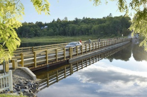 The Brookfield Floating Bridge is a hidden gem in the center of Vermont. The bridge is a major source of tourism, and plays a key role in the economic vitality of the small town of Brookfield. The bridge was replaced in 2015 after being closed for 7 years.