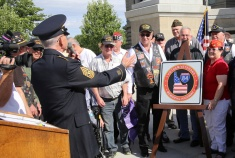 Idaho's Interstate 85 was officially renamed the Vietnam Veterans Memorial Highway during a public ceremony held on the Idaho Statehouse steps.