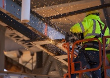 Just part of the daily grind during a repair project on the historic US-77 bridge between Purcell and Lexington.
