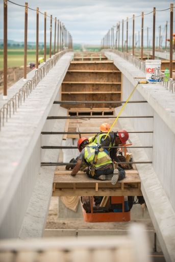 Bridge replacement project on I-94 near Sterling, ND