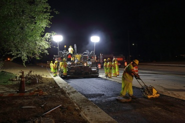 Temple Ave Improvements, paving operation. Colonial Heights Va.