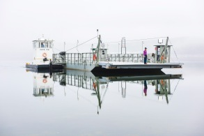 Peel Ferry barge christening new barge for Peel Ferry District 9 Marion Co.
